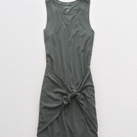 Aerie Knot Tank Dress, Royal Palm