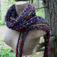Hand Knit Scarf - Dancing Days 2