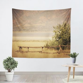 Rustic Fence Tapestry