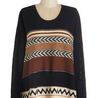 ModCloth Long Sleeve Cause for Casual Sweater