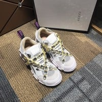 Ready Stock Gucci Women's Leather Fashion Sneakers Shoes #871