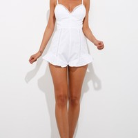 The Gift Playsuit White
