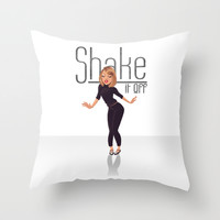 Shake it off Throw Pillow by Enosay