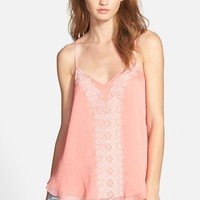 Women's Lucy Paris Embroidered Racerback Camisole,