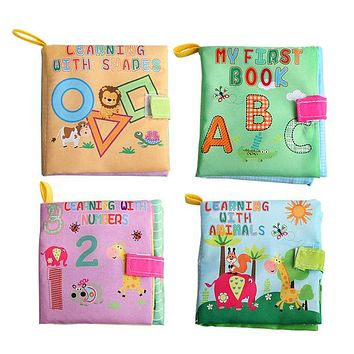 4 Style Educational Baby Toys Rattles Soft Cloth Books Toys For borns Rustle Sound Stroller Crib Bed Baby Toy