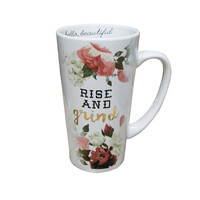 Rise and Grind White Coffee Mug