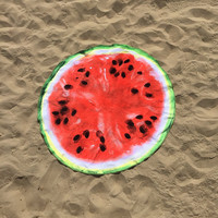The Round a Melon Round Beach Towel, Watermelon Round Towel, Watermelon Circular Beach Towel, Round Watermelon Beach Towel