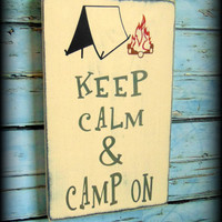 Camping Sign - Camping Gifts - Funny Wood Sign - Rustic Wooden Sign - Gifts For Him - Rustic Camp Decor - Gifts Under 50 - Lodge Decor