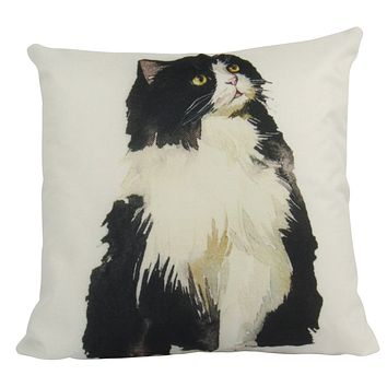 Cat | Black and White | Cat Pillow | Cute Cat | Cat Gifts | Cat Decor | Cat Photo | Gifts for Cat Lovers | Room Pillow | Throw Pillow Covers