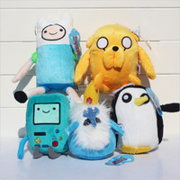 Adventure Time Plush Doll BMO Penguin Gunter Stuffed Animal Cute Jake Fin