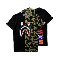 Bape Black & Green Camo T-Shirt