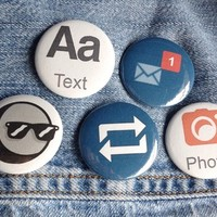 Tumblr Pinback Button Set from Fat and Nerdy