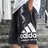 Adidas New Fashion Letter Print Sports Leisure Shorts Gray