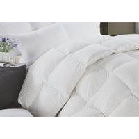 Striped & Solid- Oversized- Reversible Down Alternative Comforter With Corner Tabs in Twin Size