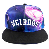 Gravitate Weirdos Snapback Hat in Black