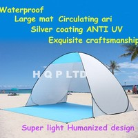 High quality Beach tent Outdoor camping hiking camping tourism disaster beach Instant portable tent UV protection sun shade waterproof
