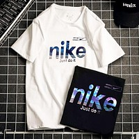 NIKE Just do it New fashion letter hook print couple top t-shirt
