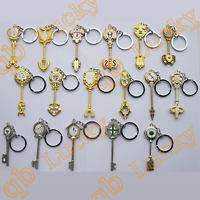 Cosplay Fairy Tail Lucy 17 pcs Key Keychain Big Size 1:1 Scale Free Shipping