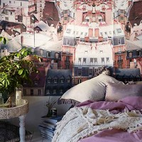 Plum & Bow Parisian Rooftop Wall Mural- Multi One