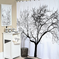 "Tree of Life - Fabric Shower Curtain - 70"" X 72"""