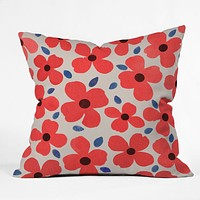 Garima Dhawan Dogwood Red Throw Pillow