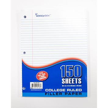 Filler Paper College Ruled - 150 Sheets- 24 Units