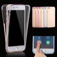 for iPhone X XR XS Max Case iPhone 7 8 Plus 360 Full Protective Soft Clear TPU Phone Cases for iPhone 6S 7 8 Case Cover Silicone