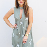 Summer Lovin' Choker Dress {Sage}