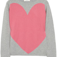 Chinti and Parker|Love Heart intarsia cashmere sweater|NET-A-PORTER.COM