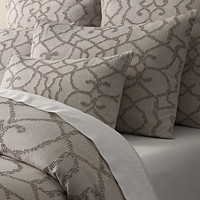 Textural Seed-Stitch Cotton Duvet Cover