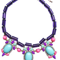 Jewel Fantasy Necklace - Purple & Turquoise