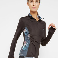 Monorose cube sports top - Black   Fit to a T   Ted Baker