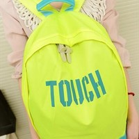 Touch Fluorescence Color Canvas Backpack