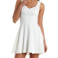 Ivory Lace-Back Sleeveless Skater Dress by Charlotte Russe