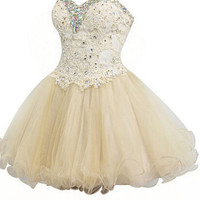 Sweetheart Beaded Homecoming Dress