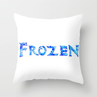 Frozen Throw Pillow by Sierra Christy Art