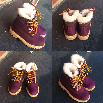 Custom Purple Timberland