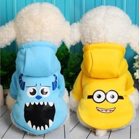 Pet Dog Clothes Coat Jacket Hoodies Minion Puppy Costume Cat Pajama Outfit for Small Big Dog Chihuahua Apparel Ropa para Perro
