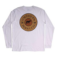 Shotgun Shell Long Sleeve Tee in White by Southern Point