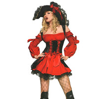 New Listing adult pirate costume for women party clothes carnival costume pirate cosplay quality pirate costume Plus SIze S-XXL