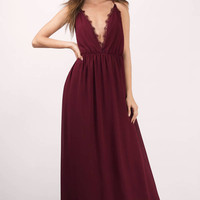 Abegayle Plunging Maxi Dress
