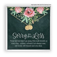 Sorry for you Loss   Engraved Disc Necklace