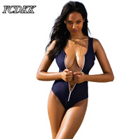 2016 New Sexy Bikini Summer Swimwear Mesh Women One Piece Swimsuit Zipper Brazilian Bathing Suits Sexy Swim Bodysuit Size S-L