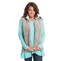 Sherpa Vest in High Rise by The Southern Shirt Co.