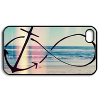 Infinity Anchor Hard Plastic Back Cover Skin for iphone 4 4s