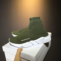 Green BALENCIAGA Boots Casual Running Sport Shoes Sneakers