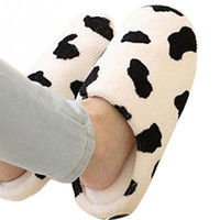 New Men and Women Anti-slip Flats Cute Shoes Soft Winter Warm Cotton Cow House Indoor Slippers couple indoor shoes