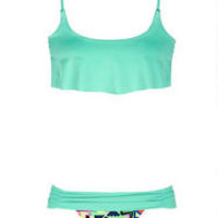 Crop Top & Foldover Ruched Hipster