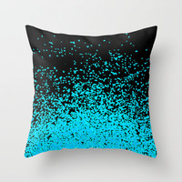 torquoise adventure Throw Pillow by Marianna Tankelevich