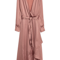 Satin wrap dress - Pink - Ladies | H&M GB